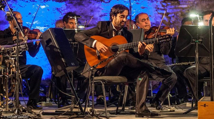 Dani Casares estrenó espectáculo con la Orquesta Sinfónica de Málaga.