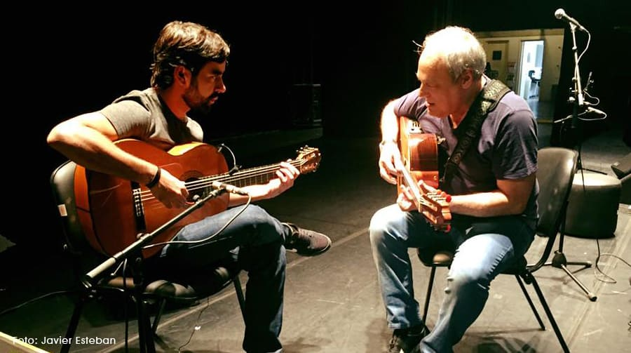 Ensayo entre guitarristas: Casares y Toquinho