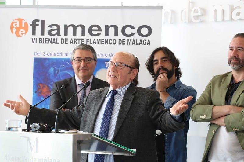 Foto de Daniel Casares en la presentación de la bienal del flamenco en Málaga